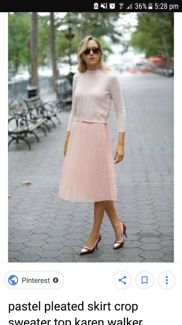 Midi pleat skirt