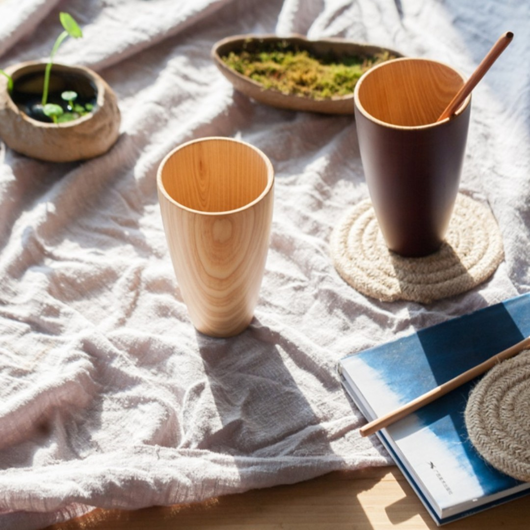 MUJI-inspired Wooden Minimalistic Birch Cup