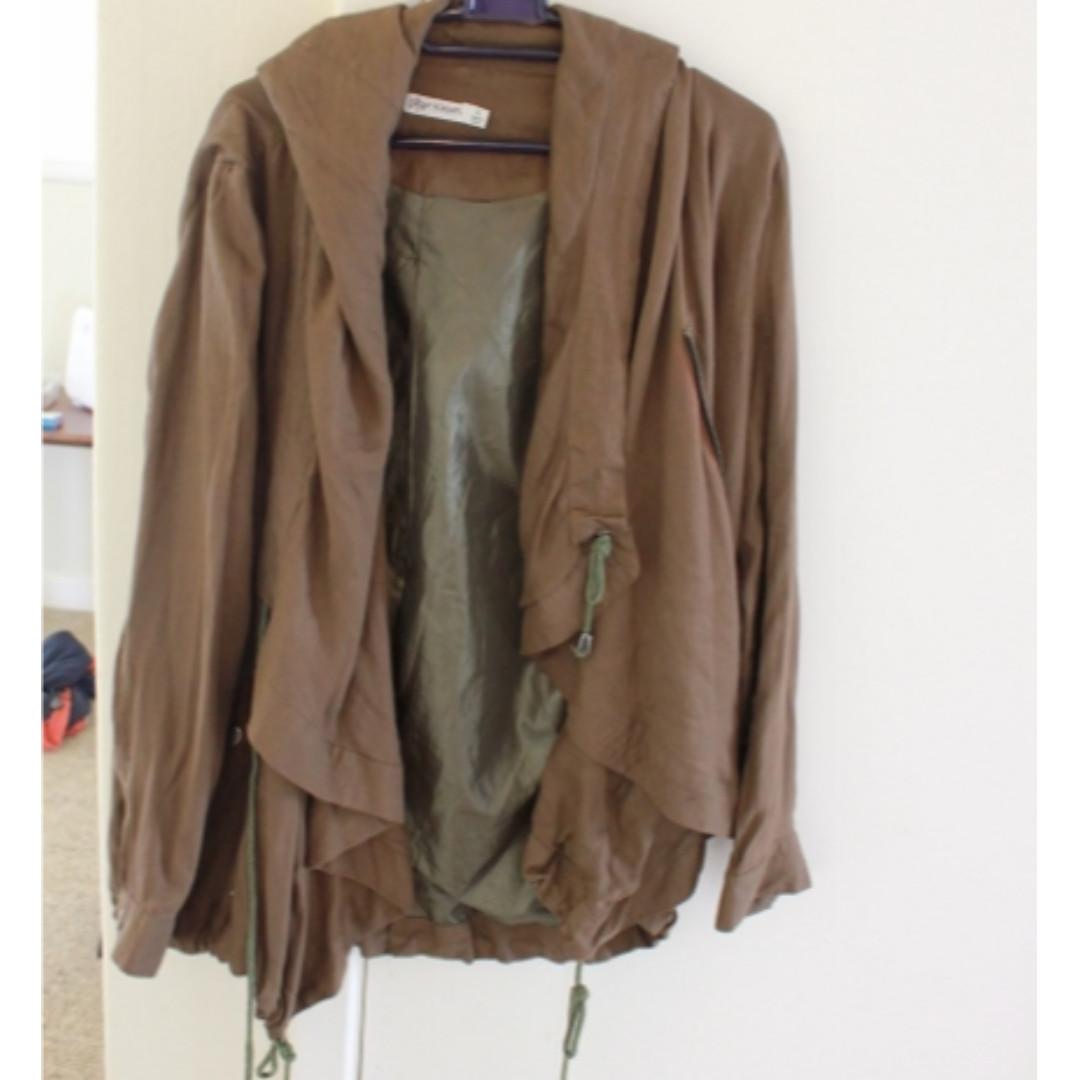 NEW- khaki green Jacket