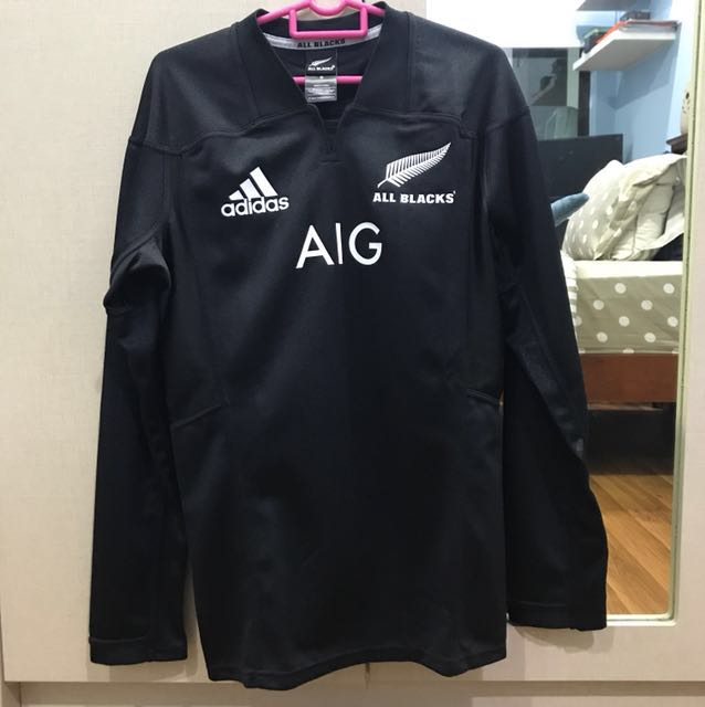 dc2b1c16334 New Zealand All Black Rugby Jersey Long Sleeve