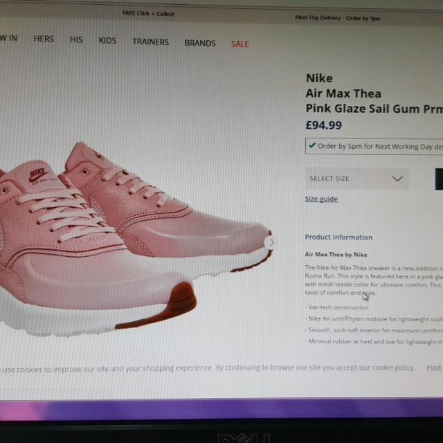 new arrival 4fe5b 8bf90 Nike Air max Thea pink glaze sail gum prm brand new size UK 6 size ...
