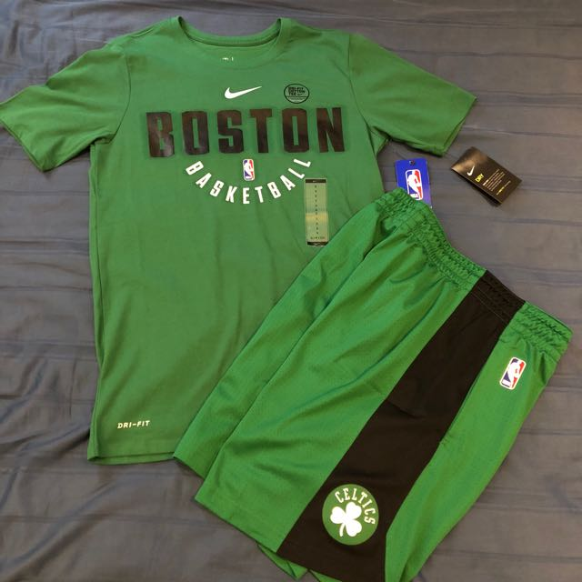 the best attitude 2c288 6729d Nike Boston Celtics Training shirt and shorts, Men's Fashion ...