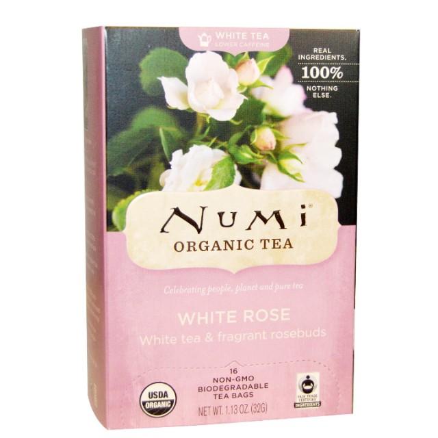 (in stock)Numi Organic White Rose Tea 16 Tea Bags