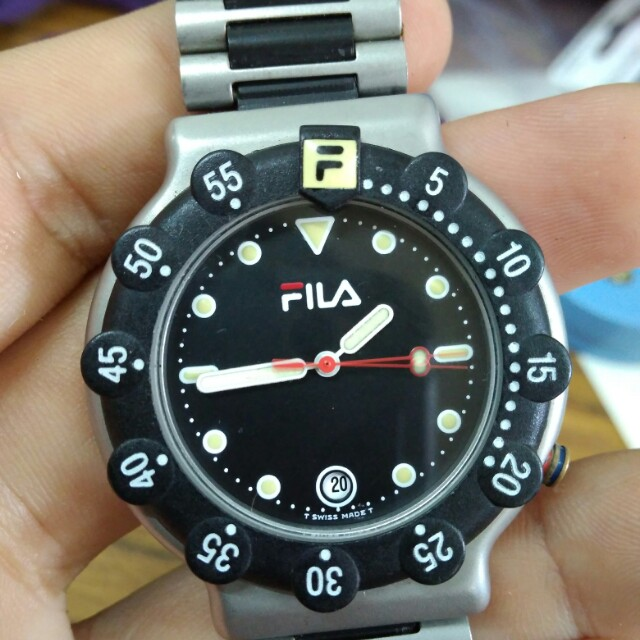 Original swiss made fila watch men 39 s fashion watches on carousell for Fila watches