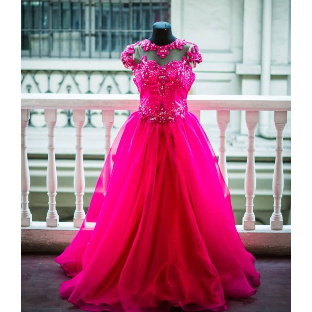 Pink Debut Gown, Women\'s Fashion, Clothes on Carousell