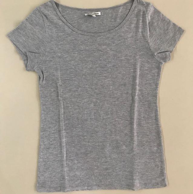 Plain Grey Tshirt / Kaos Abu Polos