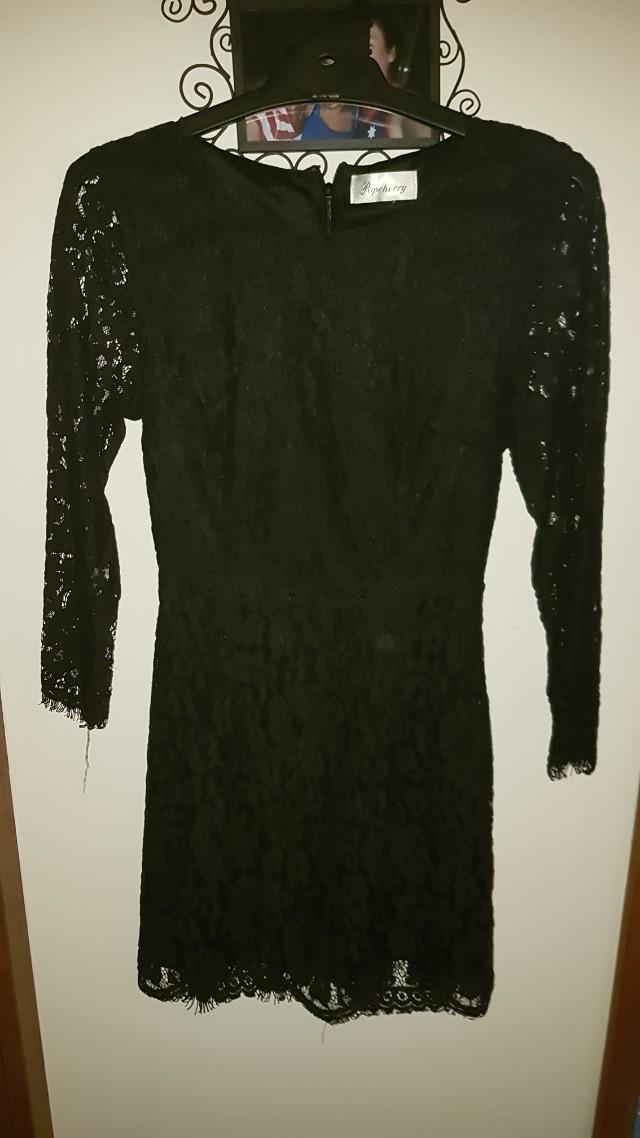 Popcherry. Black lace mini dress. Size 6