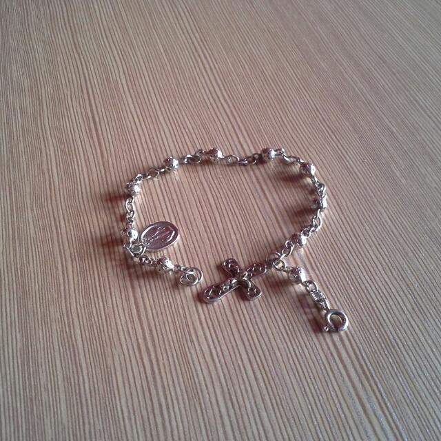 Rosary Bracelet (Silver)