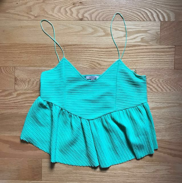 *SALE* Zara Peplum Seafoam Green Top