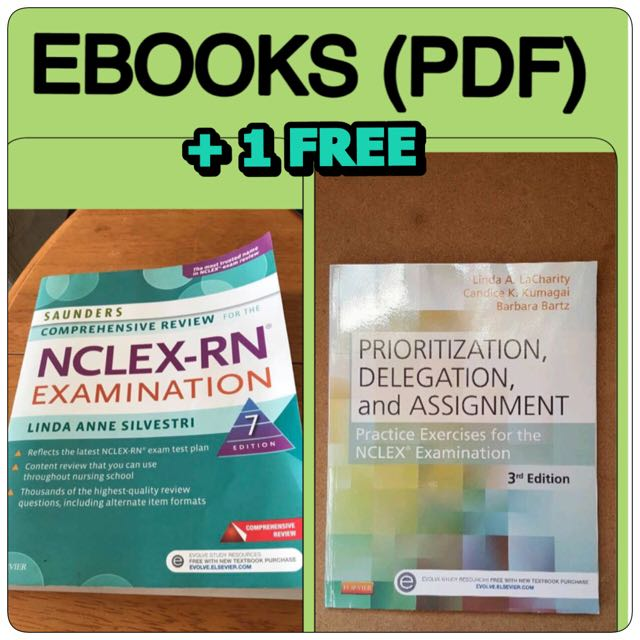 Saunders NCLEX RN 2017 And LaCharity Ebook PDF 1 Free Textbooks On Carousell