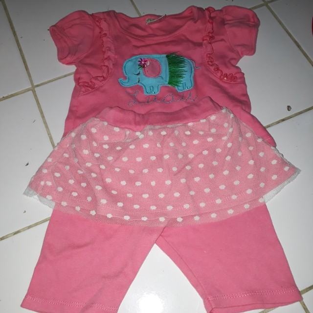Setelan baby pink