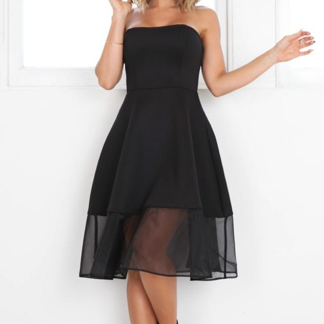 Showpo strapless black dress