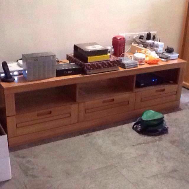 Solid Teak Tv Cabinet Console Johor Bahru Furniture