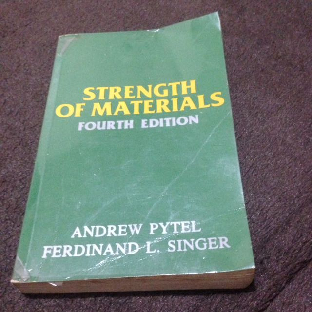 Strength of Materials by Pytel and Singer 4th ed