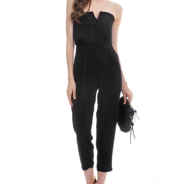 a81e70ae0d1 TCL Summer Lace Jumpsuit in Black
