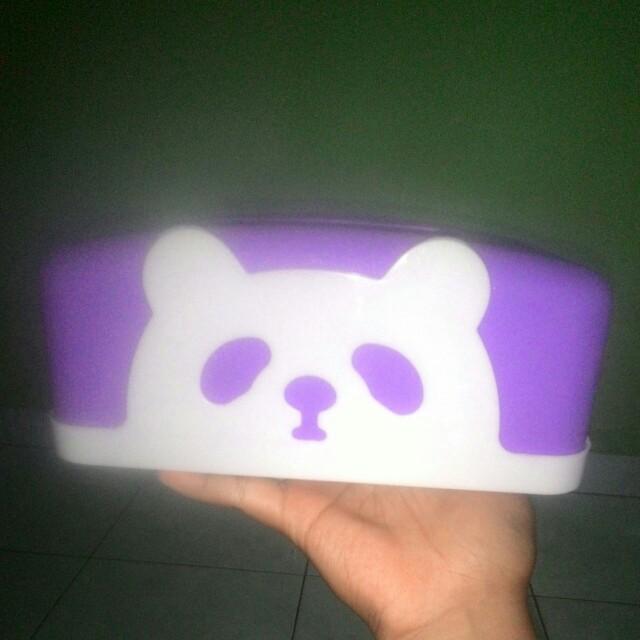 Tempat tissu bear purple
