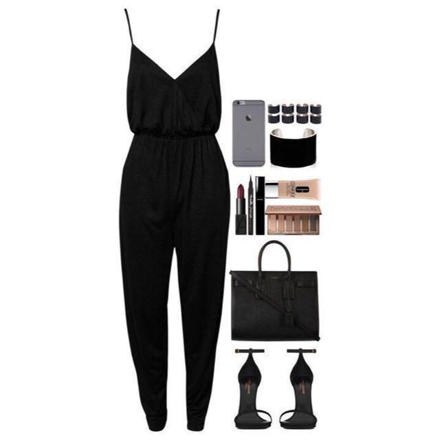 0a380dbd2173 Topshop Petite Black Jumpsuit