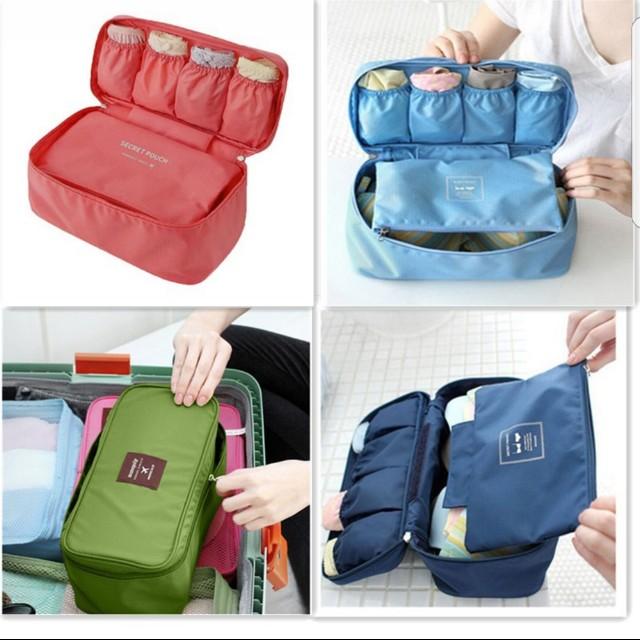 ... Travel Underwear Organizer Blue Flower Preloved Women s Fashion Bags & Wallets on Carousell