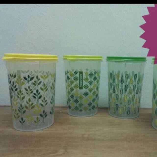 Tupperware leaf it up canister 1L 1 pc