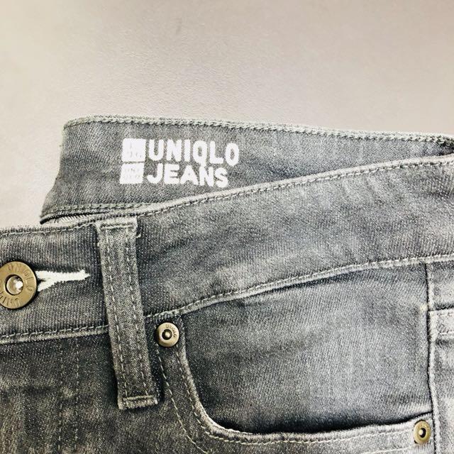 Uniqlo Grey Jeans Slim Fit