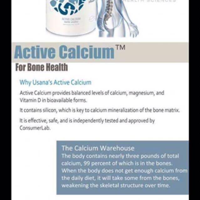 Usana calcium tablets