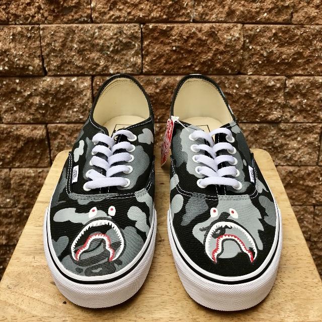 PO Vans Authentic X Bape Custom Mens Fashion Footwear On Carousell