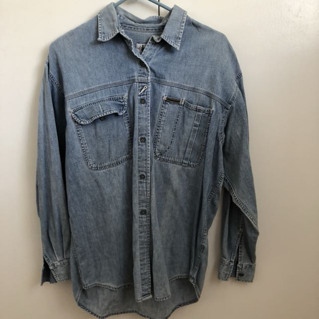 Vintage Calvin Klein denim button up