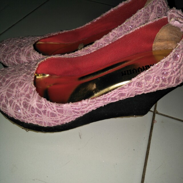 Wedges pink size 37