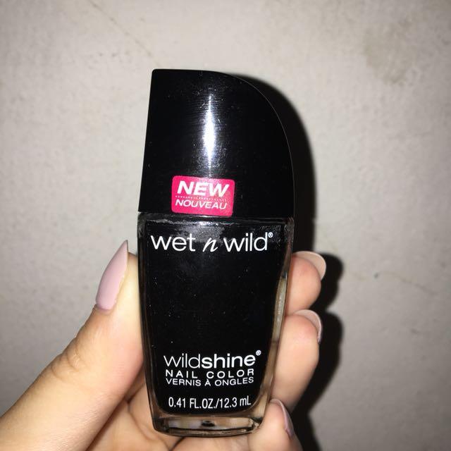 Wet n Wild Wildshine Nail Color - Black