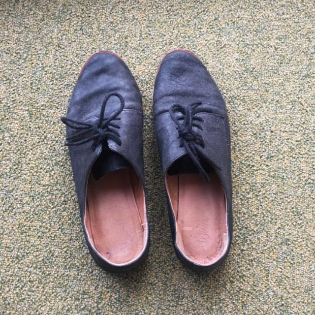 Wittner Leather Vintage Casual Flats Lace Shoes