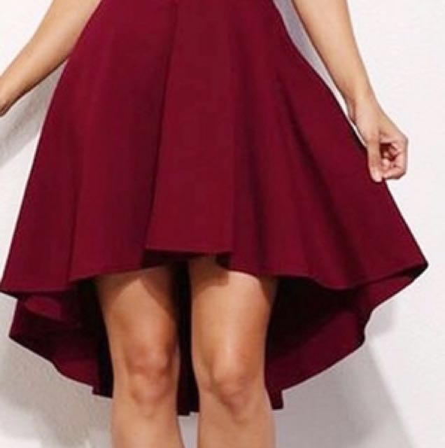 Women's Red Off The Shoulder Dress