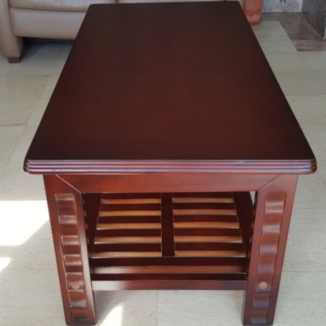 Wooden Coffee Table (& Side Table)