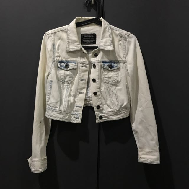 Zara Acid Wash Cropped Denim Jacket