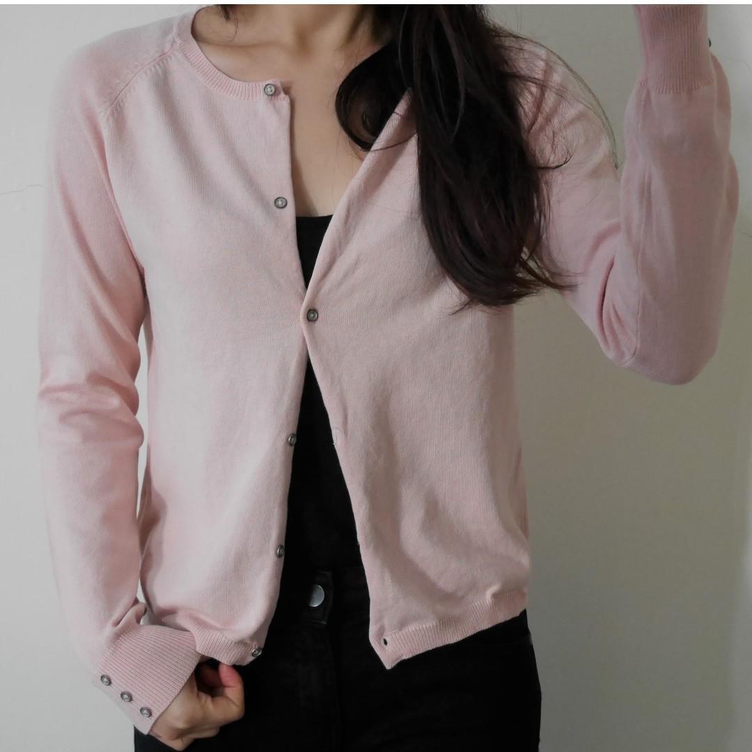 ZARA KIDS 淺粉紅針織外套