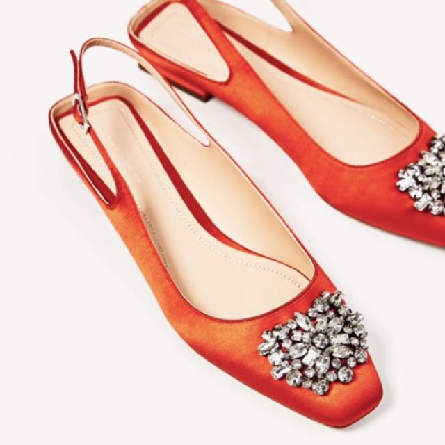 Zara Slingback with Bejewelled Detail (BNWT)