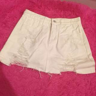 白色牛仔裙 褲裙