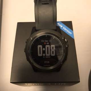 99.9%新Garmin Fenix 3 hr藍寶石面