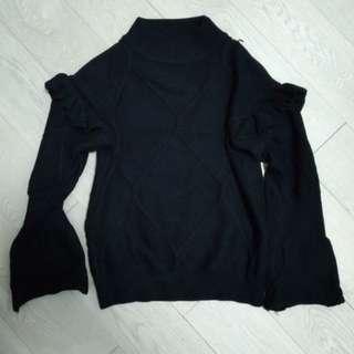 女裝黑色冷衫 燈籠袖