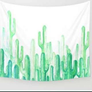 Cactus Hanging Tapestry Wall Decor