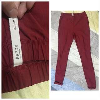 🚚 Pazzo紅色鋪棉長褲