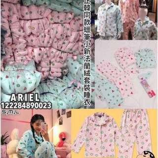 (預購)免運/情侶蠟筆小新同款法蘭絨睡衣套裝