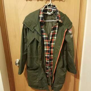 JPSNL 女裝冬季軍綠大樓 Girl winter military green jacket
