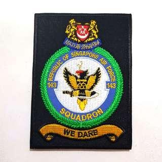 RSAF Singapore Air Force 143 Squadron F16 Velcro Patch