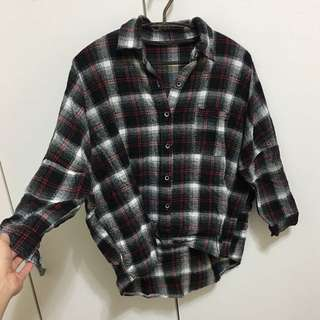 🚚 厚格紋襯衫
