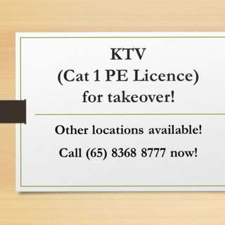 KTV with Cat 1 PE licence for takeover!