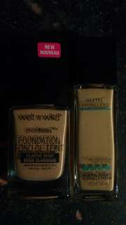 Maybelline Fit Me & Wet n Wild Photofocus Foundations