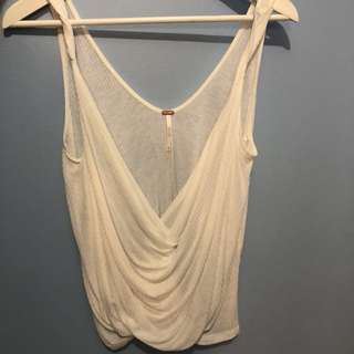 Free People White Drapey Tank XSmall