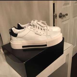 White Kendal + Kylie Platform Sneakers