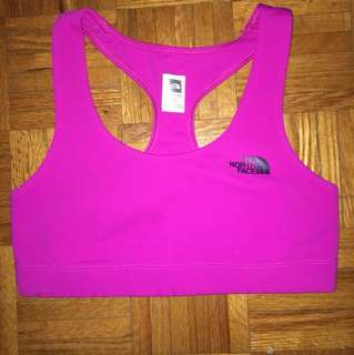 The north face sports bra pink
