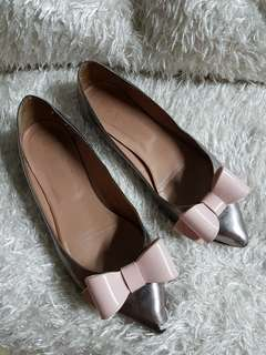 Authentic Chanel Quilted Pink Leather Ballet Flats Size 37 fits to size 8